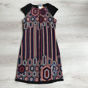 Desigual dress with front embroidered pattern